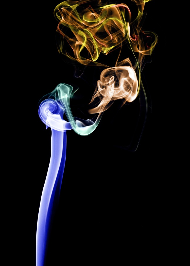 A smoke trail portrait